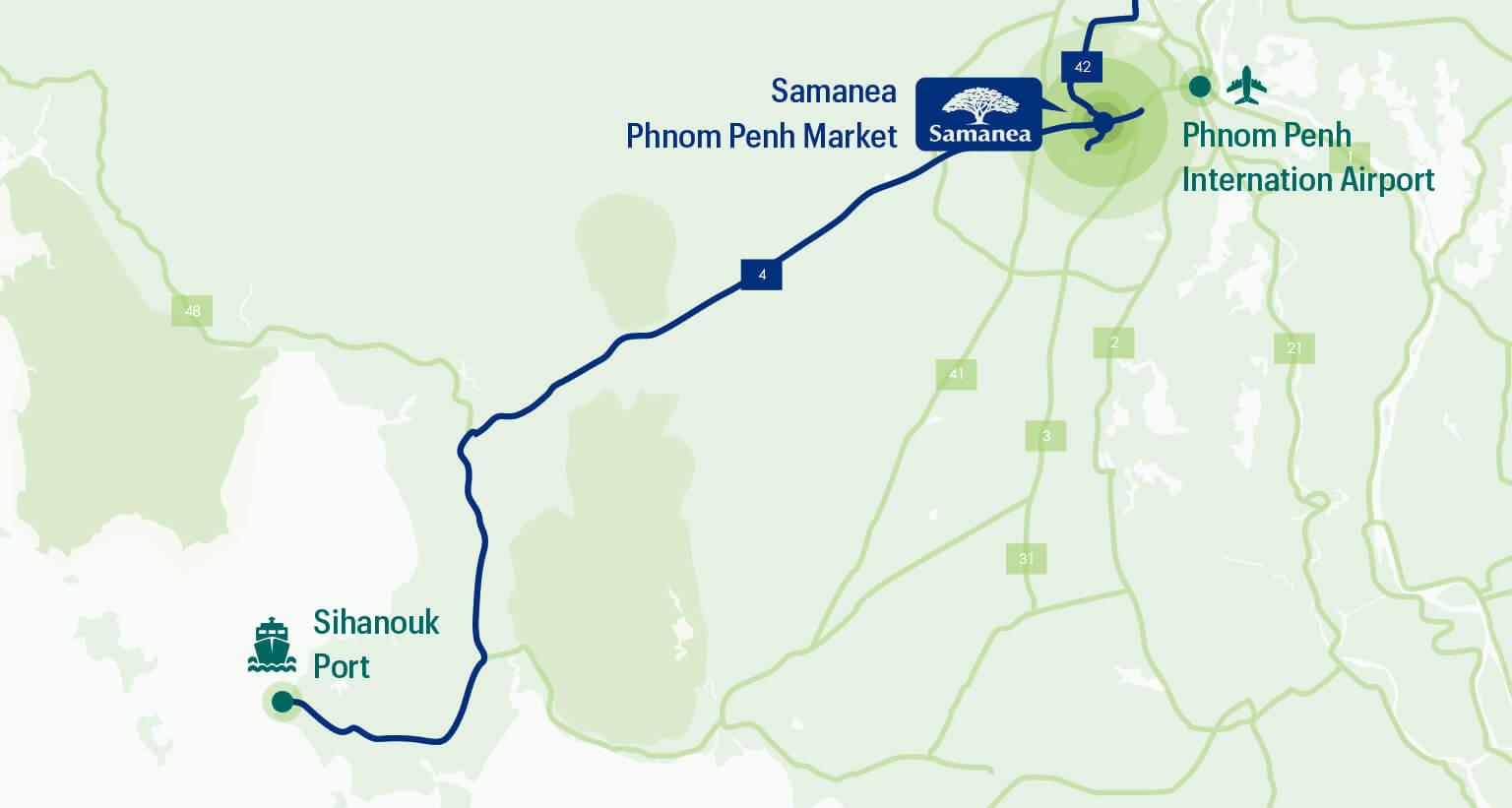 Samanea Phnom Penh Market Map